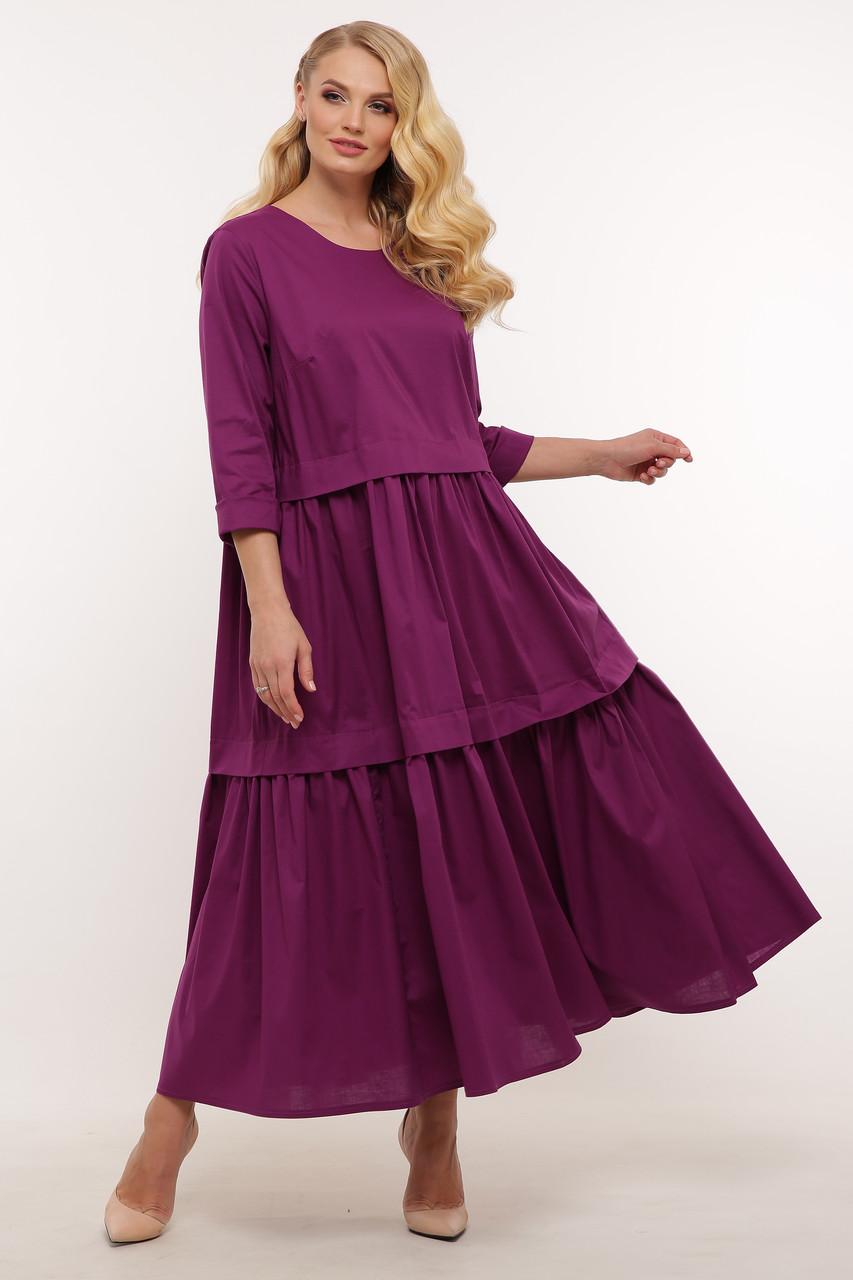Гарне плаття великих розмірів літній стройнящее