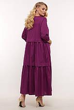 Гарне плаття великих розмірів літній стройнящее, фото 2