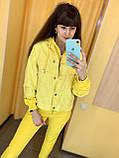 Fashion костюм куртка + штани жіночий 4907-5009 Speedway Туреччина L, жовтий, фото 2