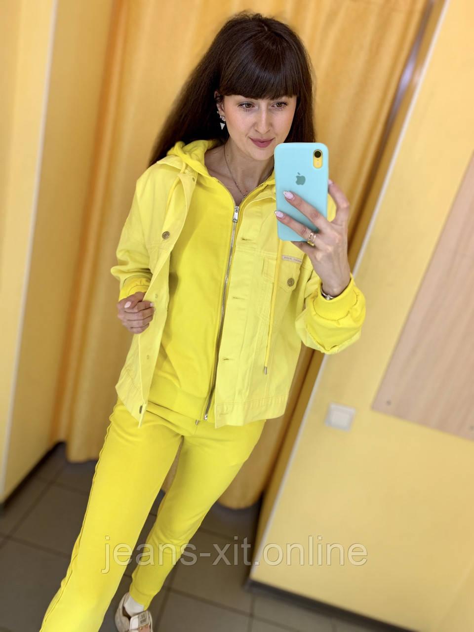 Fashion костюм куртка + штани жіночий 4907-5009 Speedway Туреччина L, жовтий