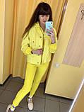 Fashion костюм куртка + штани жіночий 4907-5009 Speedway Туреччина L, жовтий, фото 3