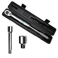 Динамометрический ключ 1/2 переходник 1/2 х 3/8, удлинитель 125 мм 1/2 28-210 NM INTERTOOL XT-9007