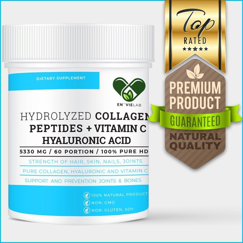 Коллаген питьевой (Collagen) в порошке En`vie Lab 5330 mg. (320 г.) 60 порций