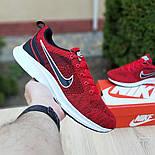 Мужские кроссовки Nike Air Zoom красные летние в сеточку. Живое фото. Реплика, фото 3