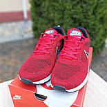 Мужские кроссовки Nike Air Zoom красные летние в сеточку. Живое фото. Реплика, фото 2