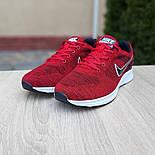 Мужские кроссовки Nike Air Zoom красные летние в сеточку. Живое фото. Реплика, фото 4