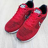Мужские кроссовки Nike Air Zoom красные летние в сеточку. Живое фото. Реплика, фото 6