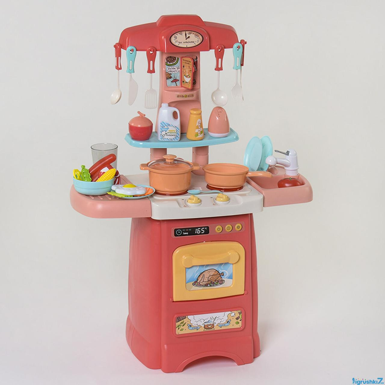 Детский игровой набор интерактивная кухня большая FUN GAME 7425 Современная кухня красная