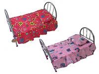 Кроватка для кукол Melogo 9342 (HT) металлическая