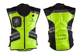 Защита жилет   (size:XXL, свето отражающий, mod:JK32)   SCOYCO