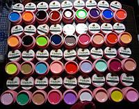 Набор 36 сосо цветных гелей в розовых баночках