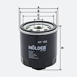 Фильтр масляный MOLDER OF185 (аналог WL7203/OC295/W71252), фото 3
