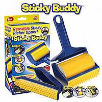 Силиконовый Валик для Чистки Одежды и Уборки Дома, Липкий валик Sticky Buddy, Щетка Валик для чистки одежды