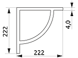 Полкотримач для полки ДСП GIFF дуга в хромі, фото 3