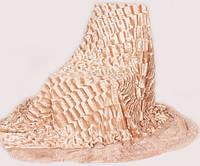 Покрывало меховое двухстороннее Норка-Травка на двухспальную кровать 200х220 (евро), одеяло