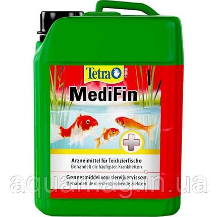 Tetra Pond MediFin 3 л препарат для борьбы с болезнями прудовых рыб, карпов кои, комет, сарас, фото 2