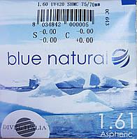 Асферическая с покрытие Silken линза для очков Blue Natural 1,61, марочная Есть астигматика (Италия), фото 1
