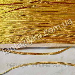Резинка бельевая узкая 5мм золотая