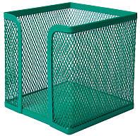 Куб для бумаги Buromax бокс Buromax 100х100x100мм металлический зеленый (BM.6215-04)