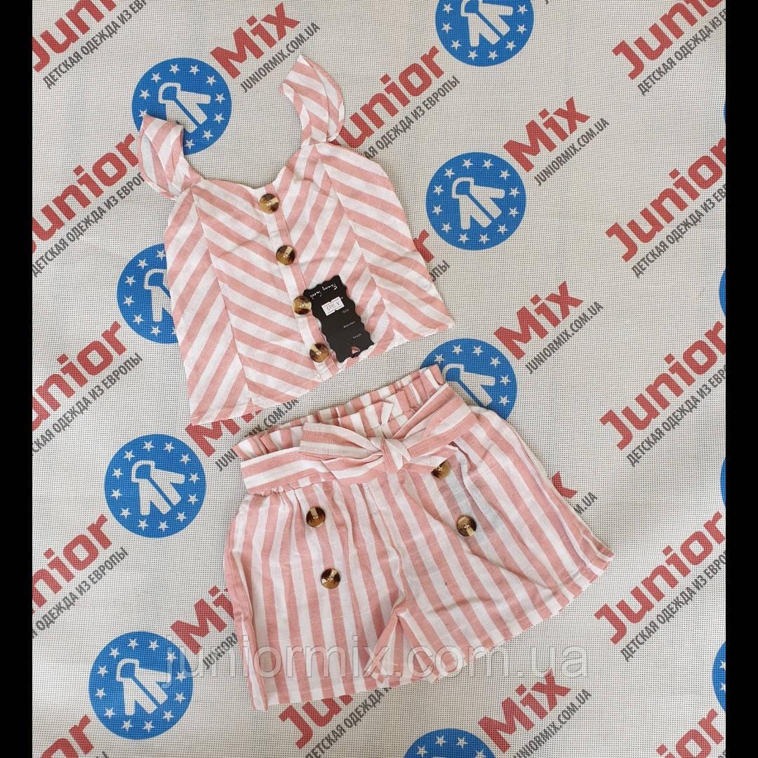 Дитячий літній легкий натуральний костюм для дівчаток оптом Fanny Look