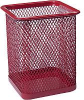 Стакан-подставка для ручек Buromax 80х80х95мм металлическая красный (BM.6201-05)