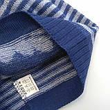 Шапка тонкая вязка для мальчика Польша Ambra Тёмно-синий р. 48, фото 2