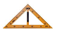 Угольник для школьной доски ZiBi KIDS Line TEACHER 90°/45° 50 см желтый (ZB.5639)