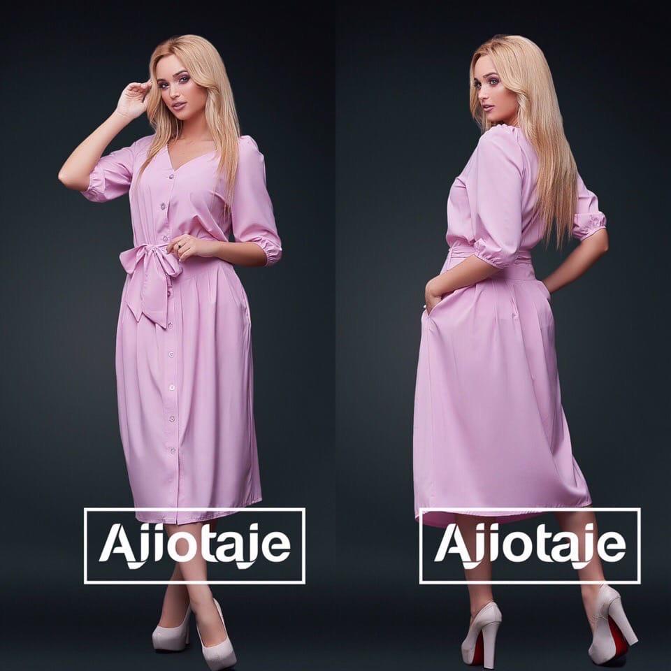 Летний юбочный комплект на пуговицах с пышной юбкой из ткани супер софт 3 цвета, р.42,44,48,50,52,54  Код 658Д