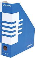 Лоток для бумаг Donau картон А4 100 мм синий (7648001PL-10)