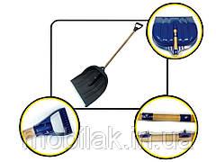 Лопата снігопр.пл. з держ. і пл.ручкою(ківш-400х400/робоча-400х310) чорна ТМABC