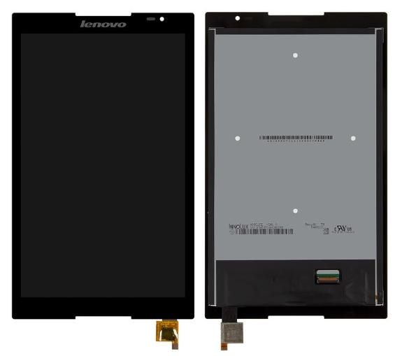 Дисплей (экран) для Lenovo S8-50F 8.0 с сенсором (тачскрином) черный Оригинал