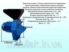 Електрокормоподрібнювач (вик.1) зерноовочі ТМЭЛЕКТРОМОТОР