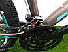 """Горный велосипед Crosser Pionner 26 дюймов. Алюминевая рама 17"""" GREY-BLUE, фото 2"""