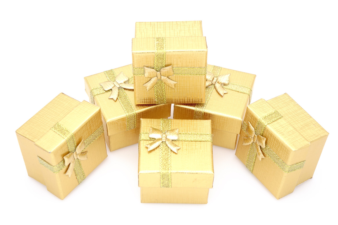 Коробочка ювелирная box1-7 Золотистый