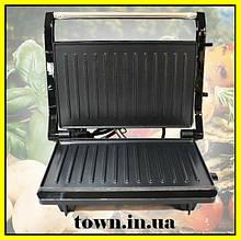 Гриль прижимной домашний Crownberg CB-1064 (электрогриль).Тостер, сэндвичница, бутербродница.