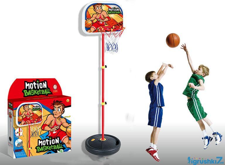 Баскетбольное кольцо на стойке HF 607 высота 140 см в коробке