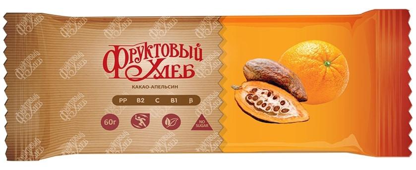 Батончик здорового питания «Фруктовый Хлеб», Какао-апельсин