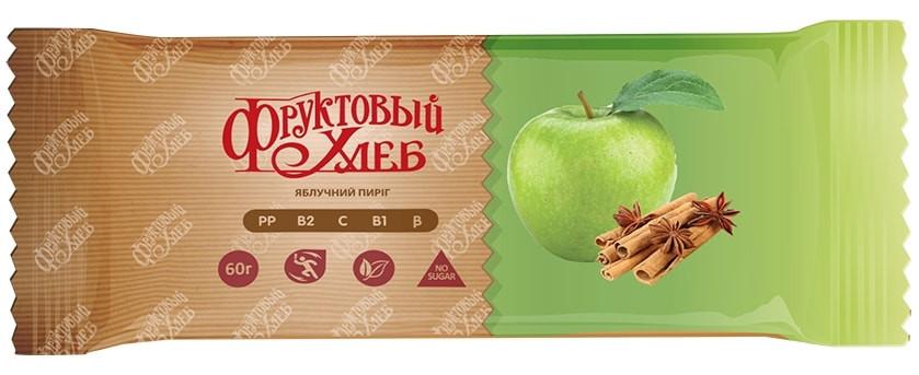 Батончик здорового питания «Фруктовый Хлеб», Яблочный пирог