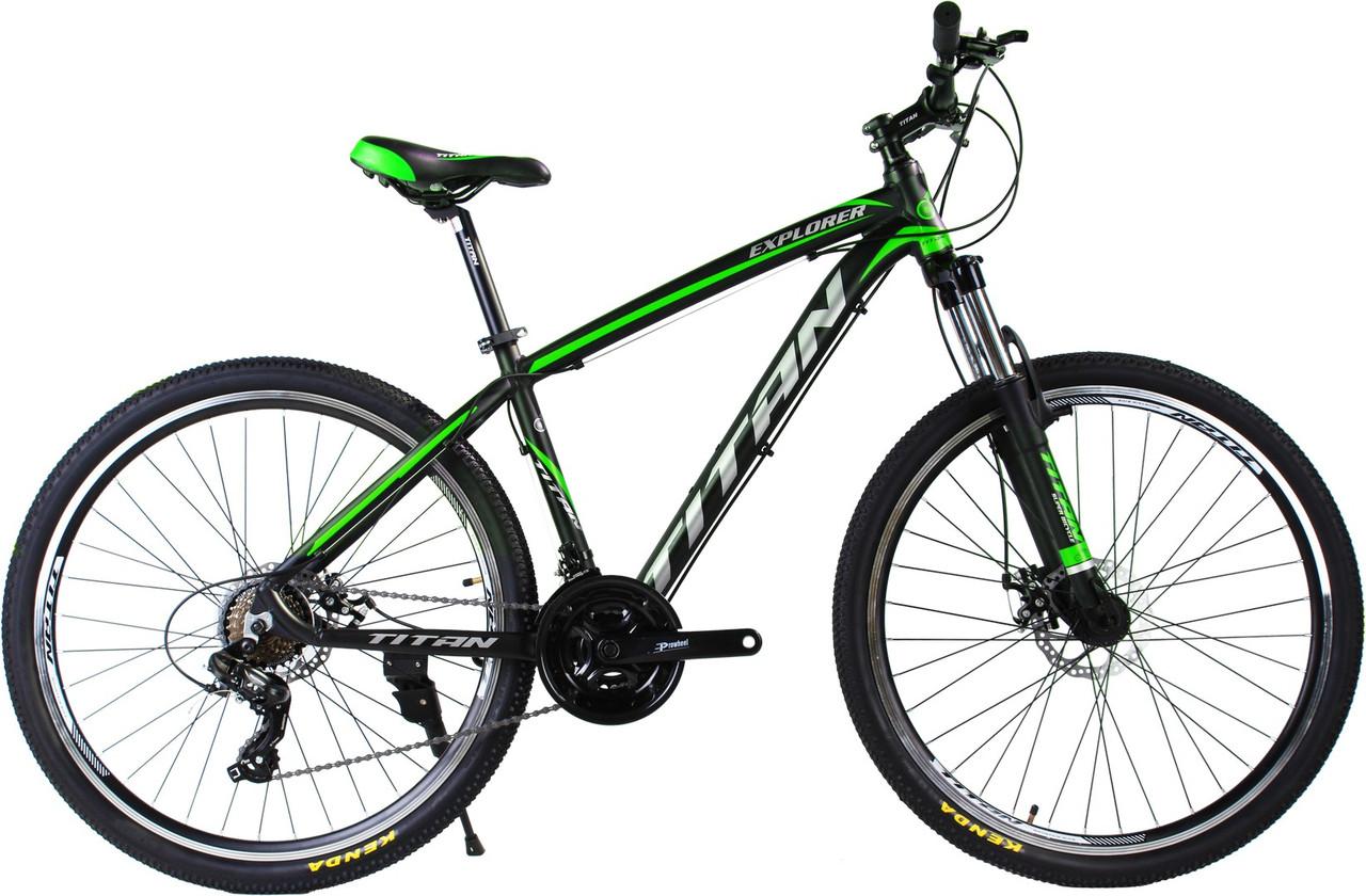 """Алюминиевый горный велосипед TITAN Explorer 27,5"""" DD Al"""