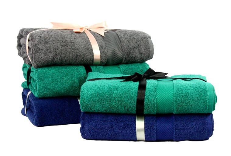 Махровое полотенце большое Euro Set 70х135 см. (49921)