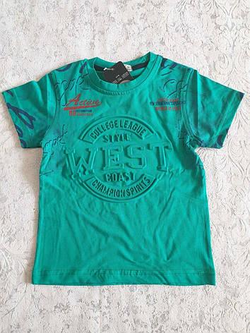 Футболка летняя для мальчиков 110-128 роста Турция WEST, фото 2