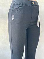 Женские джеггинсы джинсы Ласточка демисезонные с вышивкой,  чёрные, синие (НОРМА)  размеры44-50