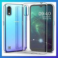 Samsung Galaxy A01 защитный чехол Transparent\ захисний чохол