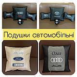 Автомобильные подушки с логотипом, подушки бабочки на подголовники, фото 3