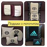 Автомобильные подушки с логотипом, подушки бабочки на подголовники, фото 7