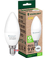LED лампа светодиодная ENERLIGHT C37 9Вт 4100K E14 (C37E149SMDNFR)