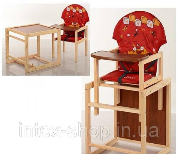 Детский деревянный стульчик для кормления M V-010-21-1