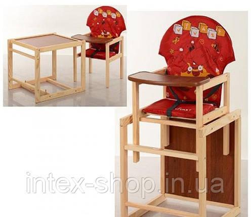 Детский деревянный стульчик для кормления M V-010-21-1, фото 2