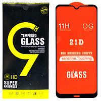 Защитное стекло Full Glue 21D для Xiaomi Redmi Note 8T (Black)