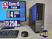 Системный блок компьютер ПК DELL Core i5/4Gb DDR3/250Gb HDD + Bonus WiFi